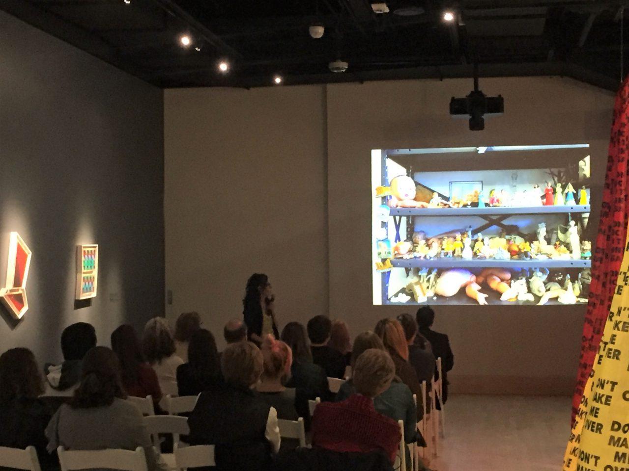 Katleman lecture in the de la Cruz Gallery