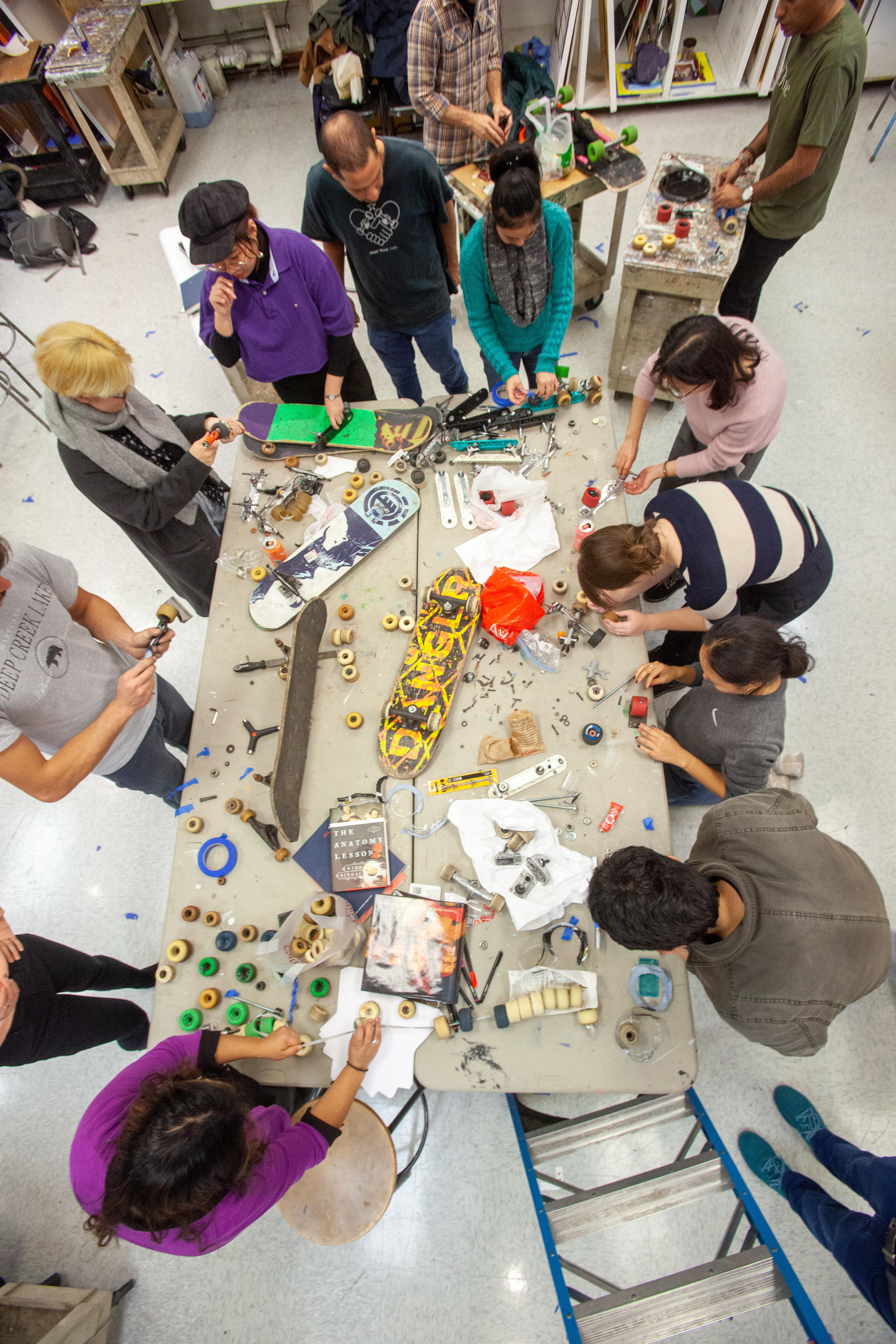 Chemi Rosado-Seijo workshop with students